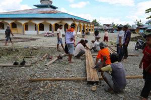 Jaya Kubah Masjid Galvalum di Timika Papua Tengah